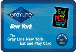 Gray Line New York Eat and Play Card